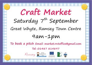 Sept 2019 Craft Market poster